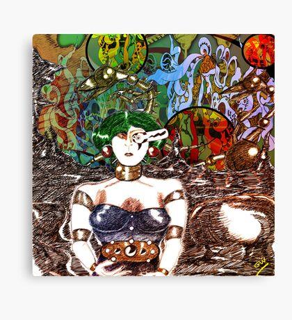 Mechanoid Planet [Colour Version] Canvas Print