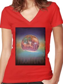 The Gentlemen Broncos Movie - Moon Fetus Women's Fitted V-Neck T-Shirt