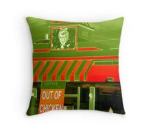 Out Of Chicken Throw Pillow