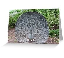 Peacock statue Greeting Card