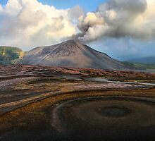 Mt Yasur from the Ash Plains by Robyn Lakeman