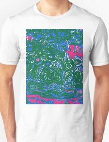 blue and green strata T-Shirt