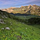 End of the day on Solaison plateau by Patrick Morand