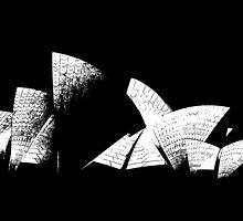 Sydney Opera House Line Art by John Dalkin