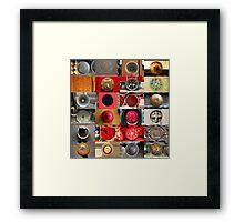 24 City Circles  Framed Print