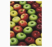 Red and Green Apples Displayed In A Pattern One Piece - Long Sleeve