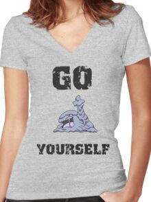 Go Muk Yourself Women's Fitted V-Neck T-Shirt