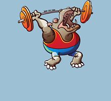 Olympic Weightlifting Hippopotamus Unisex T-Shirt