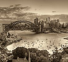 Through Sepia Eyes - Sydney Harbour, Sydney Australia - THe HDR Experience by Philip Johnson