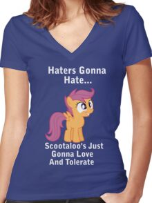 Scootlaoo Love Everyone! Women's Fitted V-Neck T-Shirt