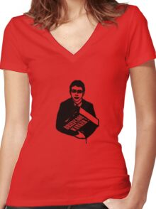 "The Inbetweeners - ""Briefcase Wanker!"" Women's Fitted V-Neck T-Shirt"
