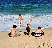 4 Boys at the Seashore by joAnn lense