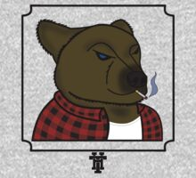 Smoking Bear by HammerandTong