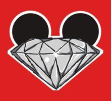 Diamond Ears BW Kids Tee