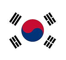 I Love Korea - South Korean Flag T-Shirt and Sticker by deanworld