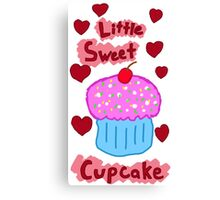 Little Sweet Cupcake Canvas Print