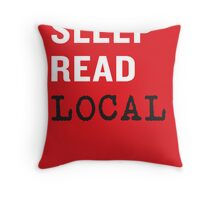 Eat Sleep Read Local Throw Pillow