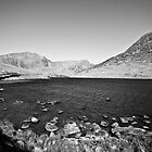 Ogwen valley B&W by David Cooper