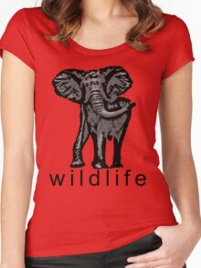 Animal Wildlife Women's Fitted Scoop T-Shirt