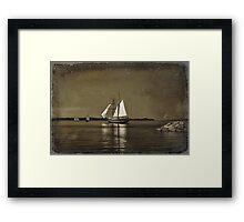 Tall ships - textured Framed Print