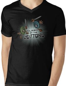 Clash of the BUTTONS Mens V-Neck T-Shirt