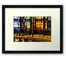 Reflection in the Mall Framed Print