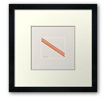 Bacon - Minimalist Bacon Framed Print