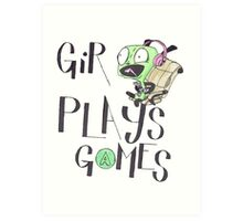 GiR Plays Games Art Print
