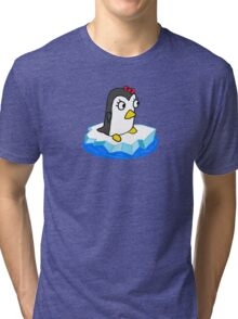 Girly Penguin Tri-blend T-Shirt