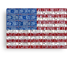 License Plate Flag of the United States 2012 Canvas Print
