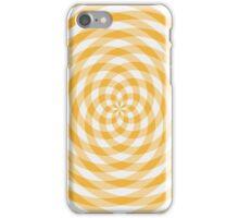 Kaleidoscope effect yellow gingham iPhone Case/Skin