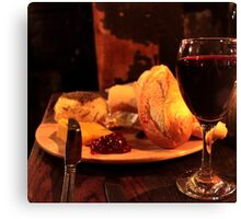 Gordan's Wine Bar, London - Wine & Cheese Canvas Print