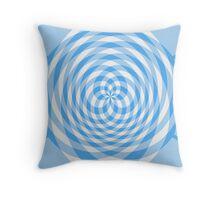 Kaleidoscope effect blue gingham Throw Pillow