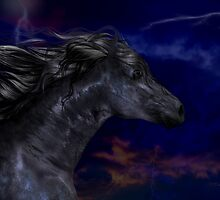The Dark .. a stallions birth by LoneAngel