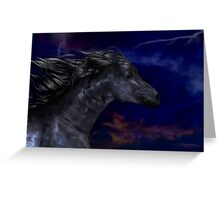 The Dark .. a stallions birth Greeting Card