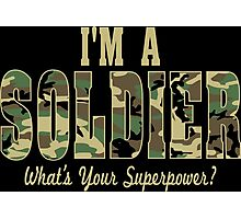 Soldier Superpower Camo Photographic Print