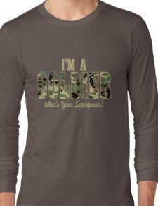 Soldier Superpower Camo Long Sleeve T-Shirt