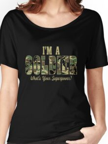 Soldier Superpower Camo Women's Relaxed Fit T-Shirt
