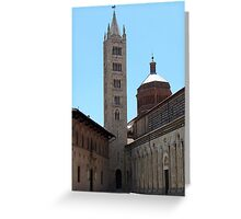 Cathedral in Masa Maricima Italy Greeting Card