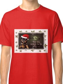 'Tis The Season To Be Jolly Holiday Greetings Classic T-Shirt