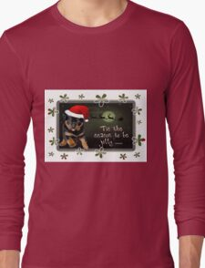 'Tis The Season To Be Jolly Holiday Greetings Long Sleeve T-Shirt