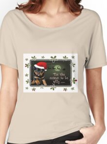 'Tis The Season To Be Jolly Holiday Greetings Women's Relaxed Fit T-Shirt