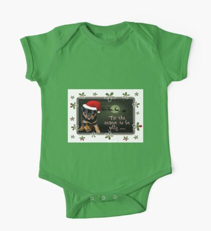 'Tis The Season To Be Jolly Holiday Greetings One Piece - Short Sleeve