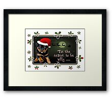 'Tis The Season To Be Jolly Holiday Greetings Framed Print