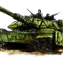 M1 Abrams Tank Drawing by olivercook