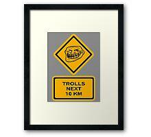Trolls - kilometers Framed Print