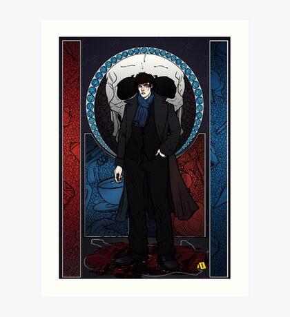 Sherlock Nouveau: Macabre Sherlock Holmes Art Print