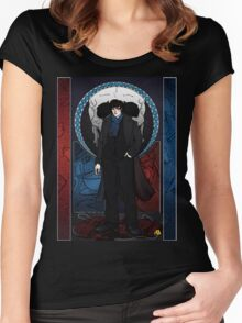 Sherlock Nouveau: Macabre Sherlock Holmes Women's Fitted Scoop T-Shirt