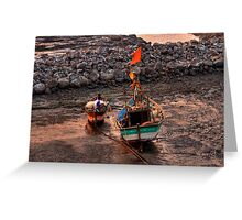An evening on the fisherman's dock #3 Greeting Card