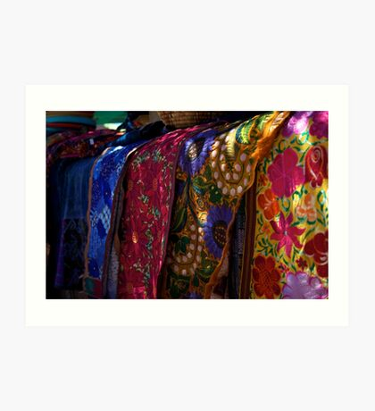 Colorful Fabrics Art Print